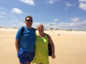 Wraz z Piotrem nie dajemy się porwać wiatrowi... ;)