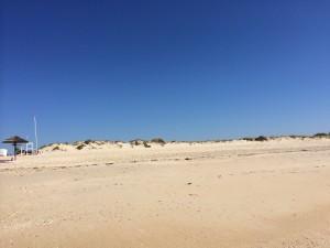 Widok na całą plażę w Cabanas