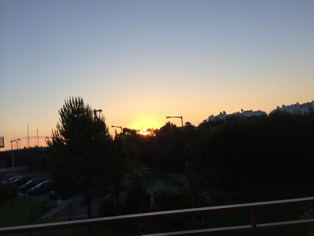 Fotografia wschodu słońca nad Cabanas